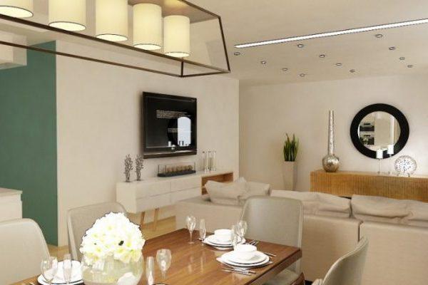 واحد مسکونی ملاصدرا1 600x400 - دکوراسیون منزل - ۵ ایده اصلی برای طراحی داخلی منزل
