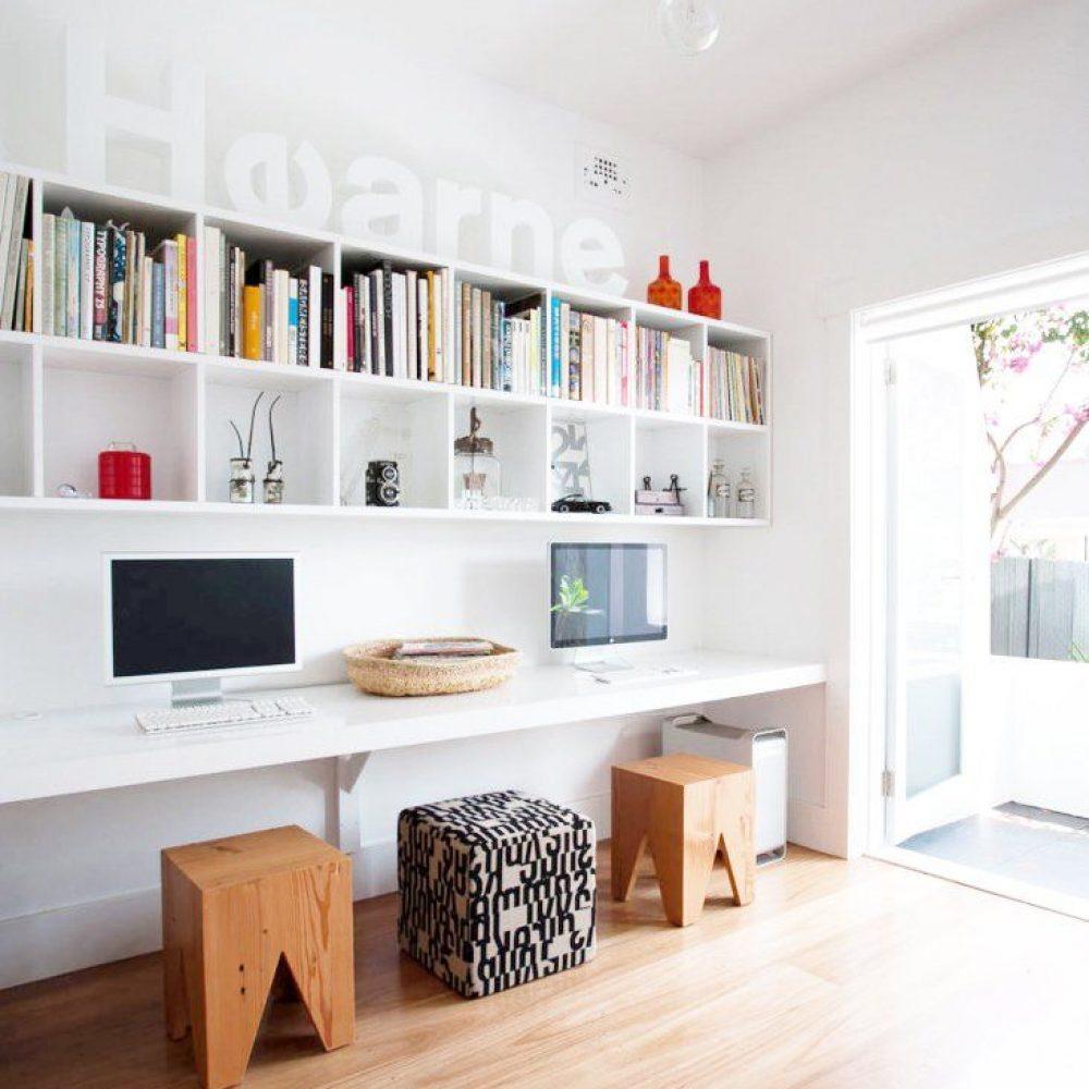 wall office design scaled - ۱۱ نکته در مورد تزئینات اداری برای افزایش بهرهوری شما