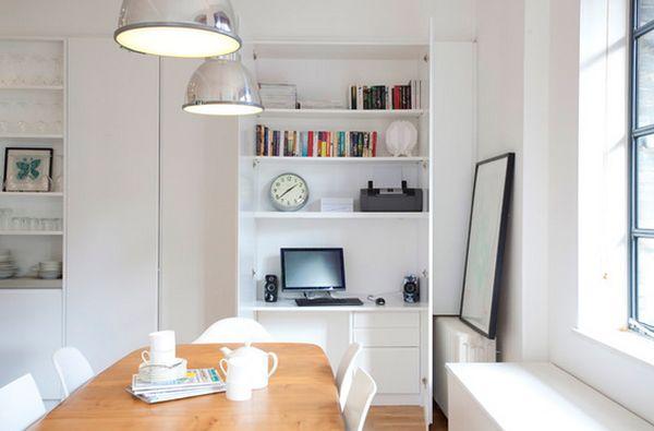 white room design organized office area - ۱۱ نکته در مورد تزئینات اداری برای افزایش بهرهوری شما