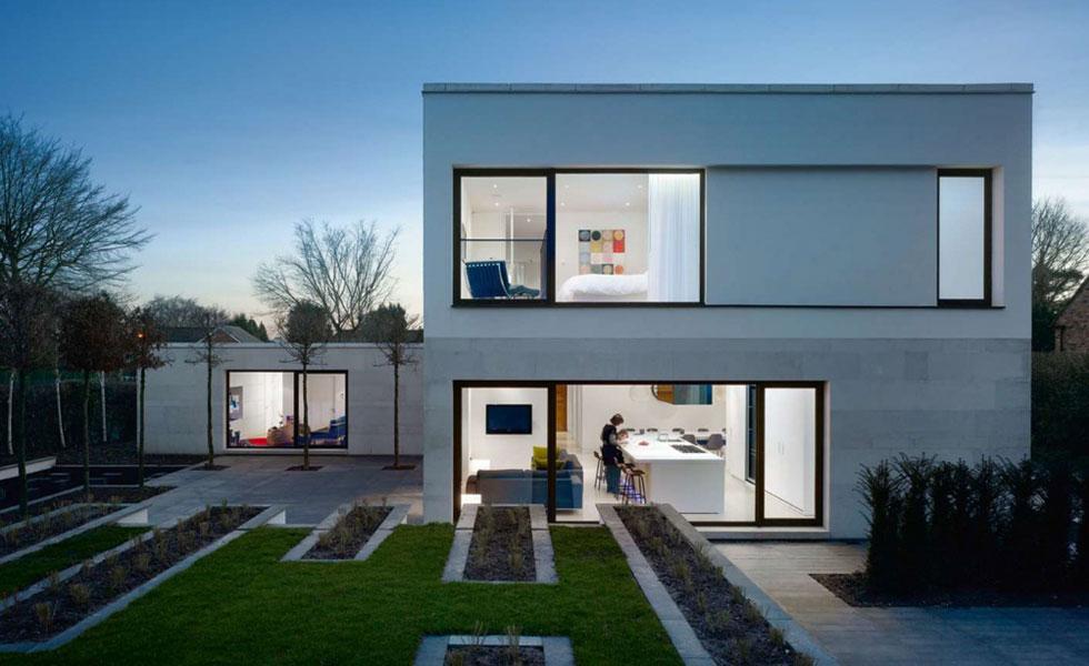 modernist house with Render lead - رندر خانه: کدام سبک از رندر برای شما مناسب است ؟