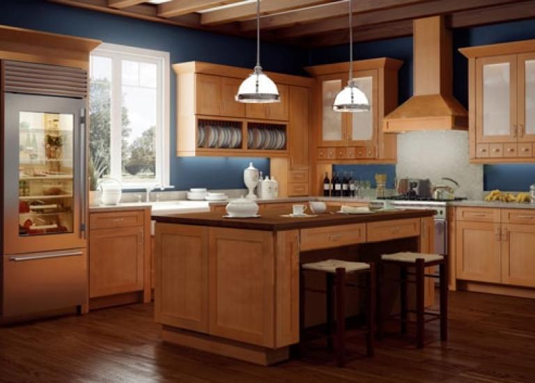 Shaker Honey 1 - انواع کابینت آشپزخانه