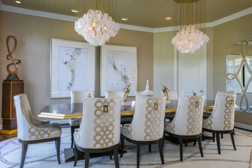 find the right lighting 1582053089 - چگونی ارائه یک اتاق شام یا غذاخوری