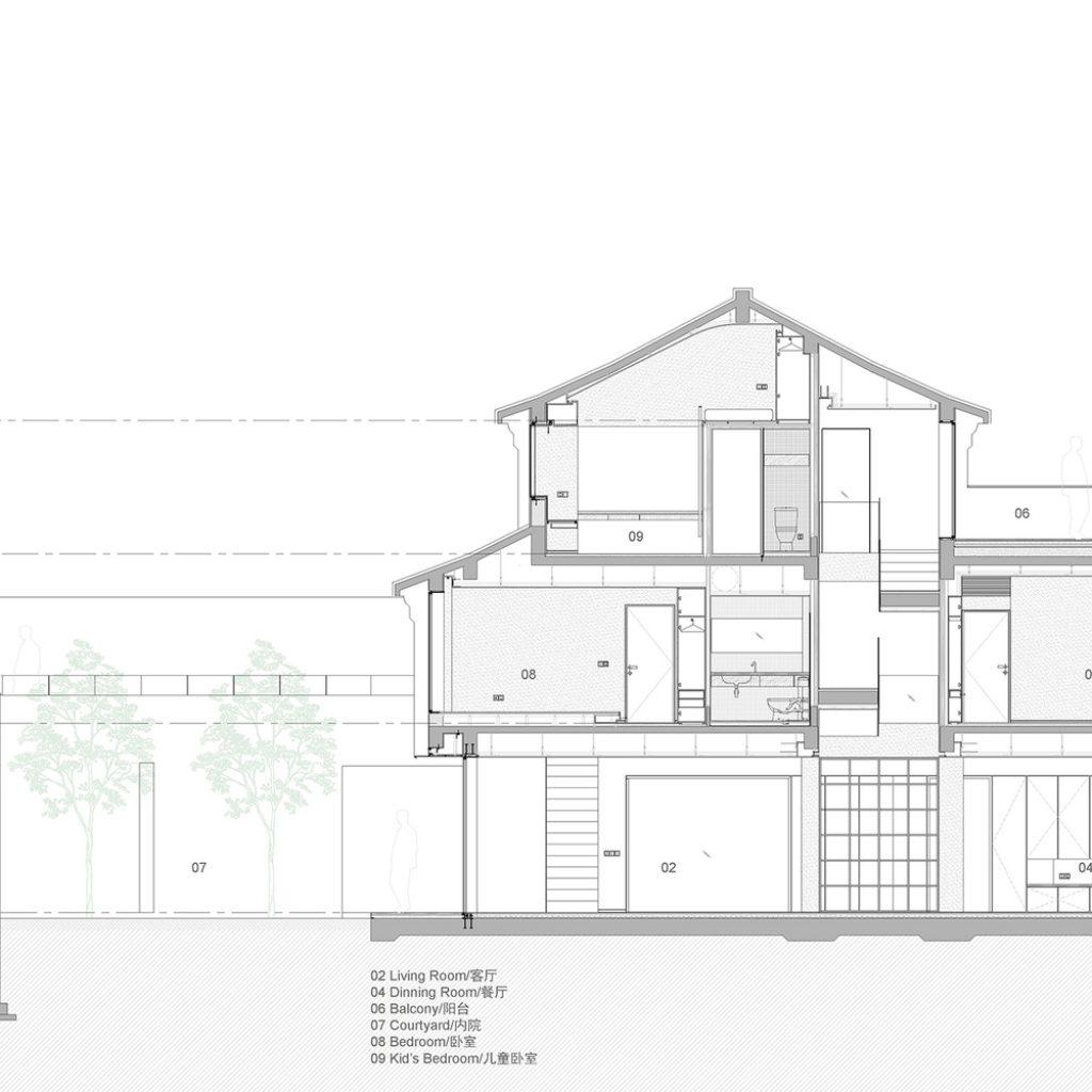 section jwjz 1024x1024 - عناصر معماری مدرن و سنتی نوسازی خانه