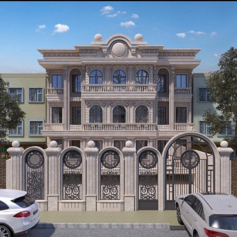 نمای واحد مسکونی فرشته 768x770 1 - بازسازی ساختمان