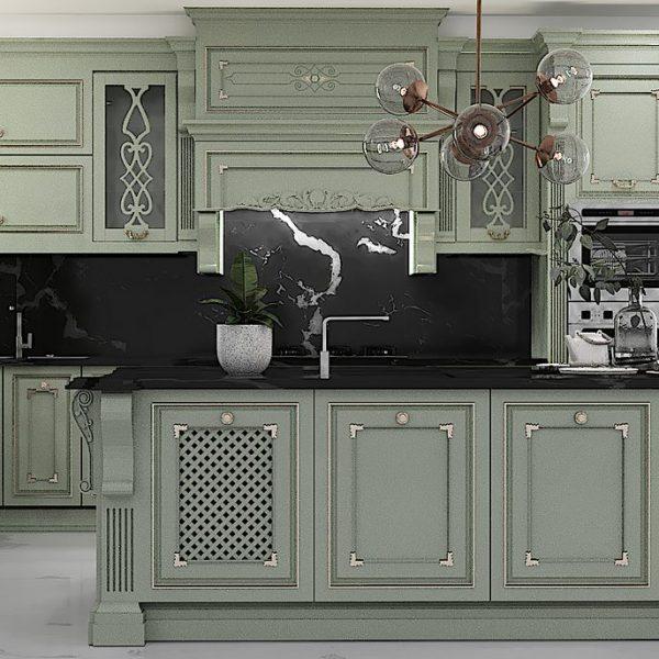 2 Copy 1 600x600 - طراحی کابینت سبک کلاسیک سعادت آباد