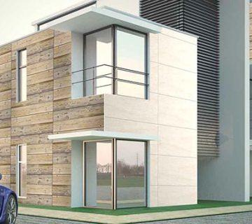 طراحی نمای ساختمان سرامیکی